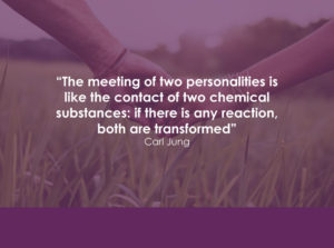 Quote: The meeting of two personalities is like the contact of two chemical substances: if there is a reaction, both are transformed. Carl Jung